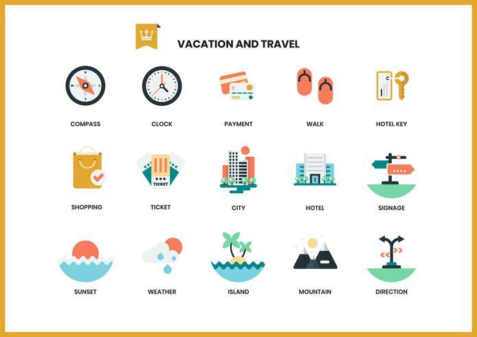 Ícones de férias para negócios
