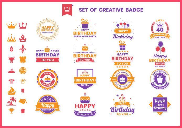 Cumpleaños retro vector para banner