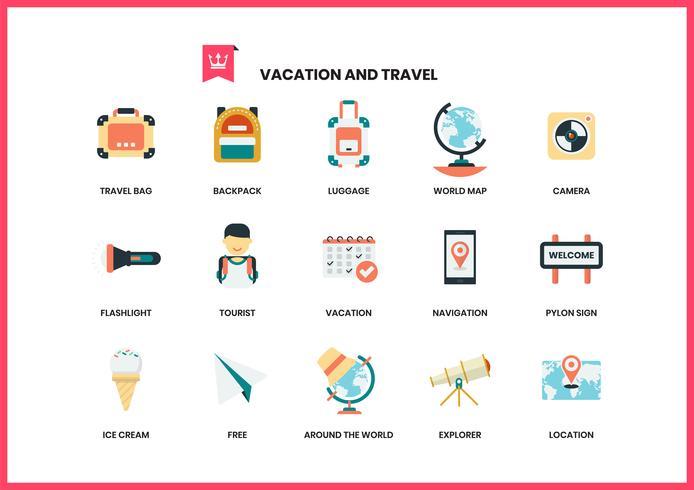Iconos de vacaciones para negocios vector
