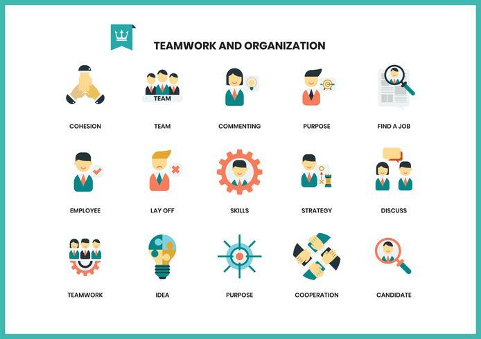 Teamwork-Ikonen eingestellt für Geschäft