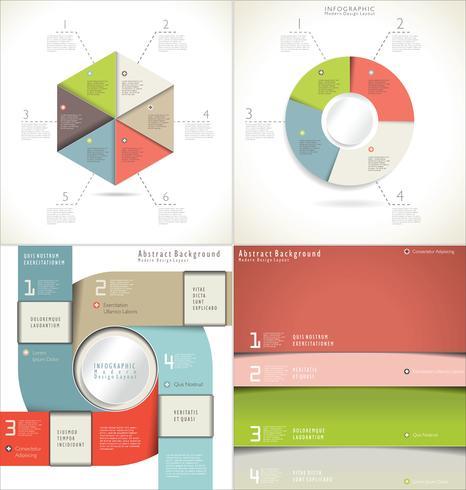 Modelo abstrato de design moderno