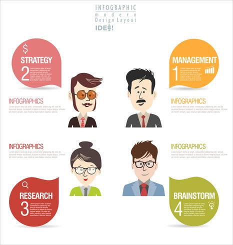Brainstorming business concept modern design infographic vector