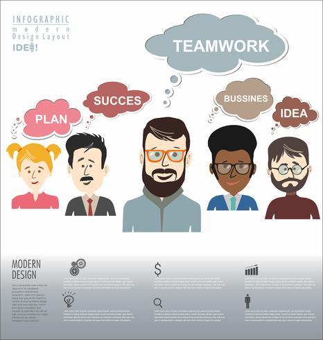 Illustrazione moderna di vettore della chat online