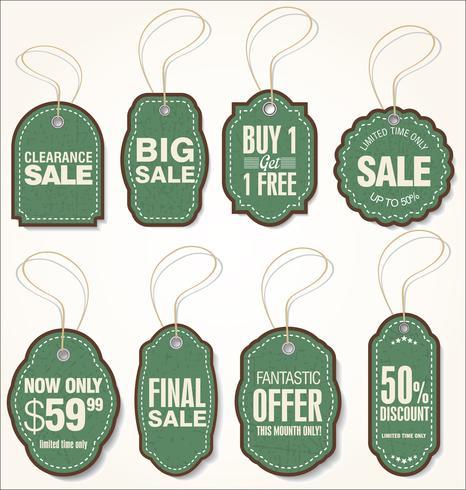 Paper price tag retro collection  vector