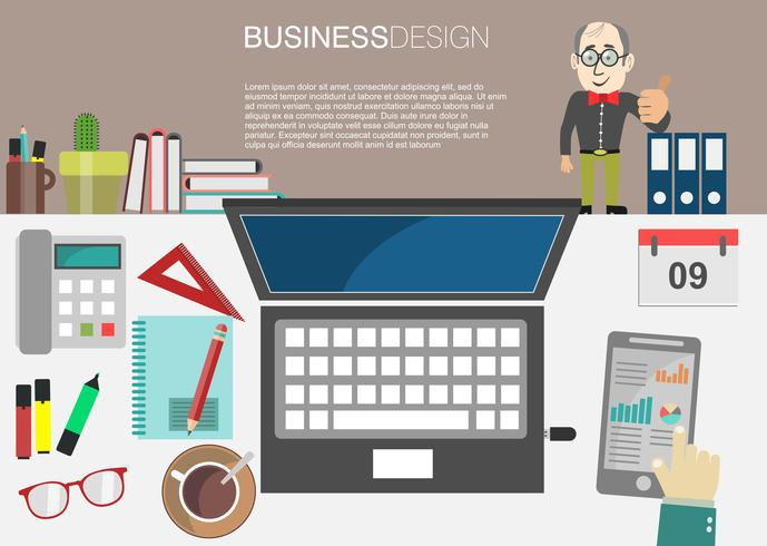 business concept modern design infographic