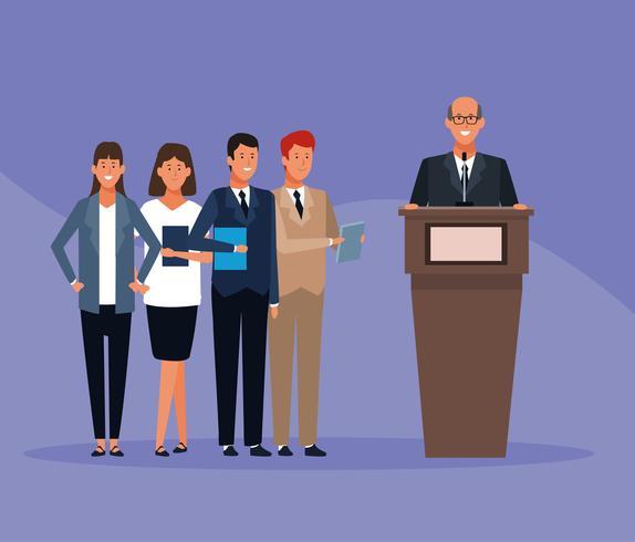 zakelijke medewerker in een conferenties