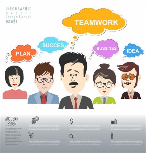 Remue-méninges de business concept moderne design infographique