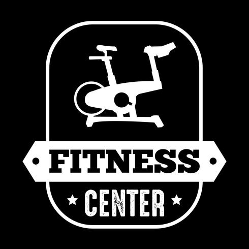 Fitness Badge and Logo, good for print design vector