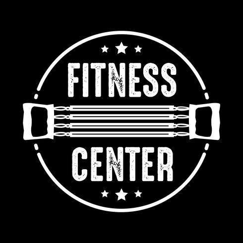 Fitness Badge und Logo, gut für Printdesign