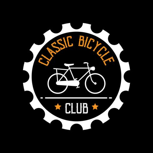 Fahrradabzeichen und Logo, gut für Druck