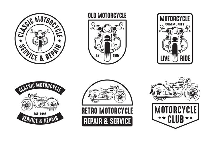 Motorcycle badge and logo, good for print vector