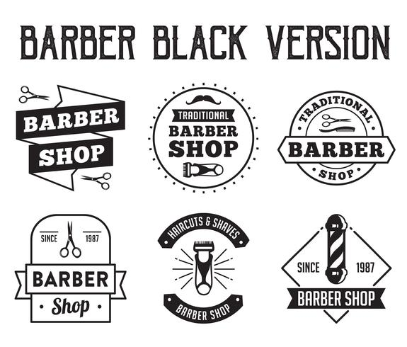 Insignia y logotipo de peluquero, bueno para tu tienda