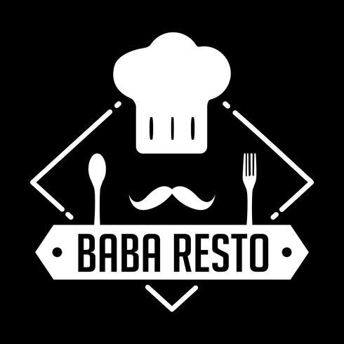 Insignia y logotipo del restaurante, buena para imprimir