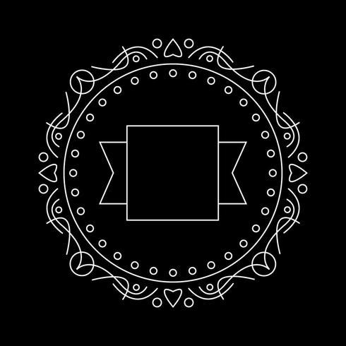 Modello di logo classico telaio. meglio per la decorazione