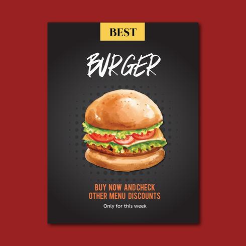 Fast food restaurant poster design for decor restaurant look