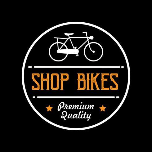 Emblema de bicicleta e logotipo, bom para impressão