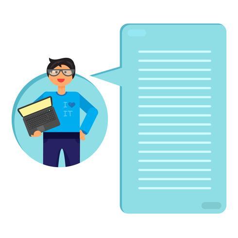 Anställd med anteckningsbok