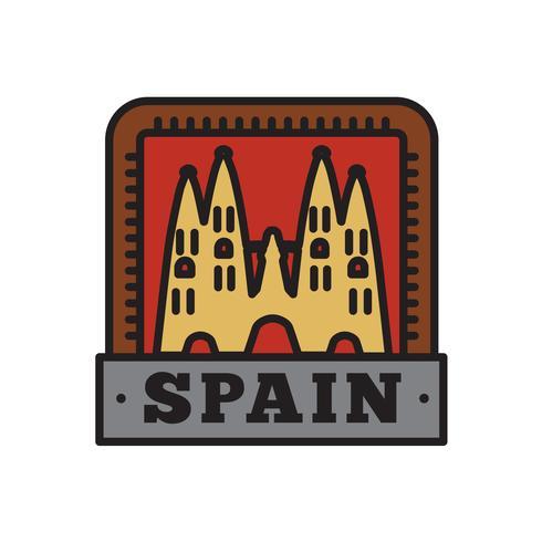Colecciones de insignias de países, símbolo de España de país grande vector