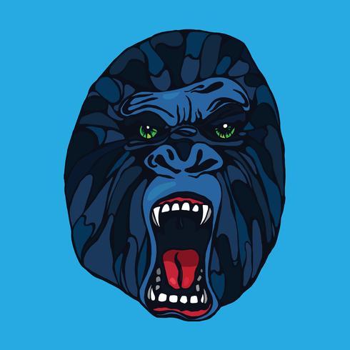 Tatuaggio gorilla ringhiante