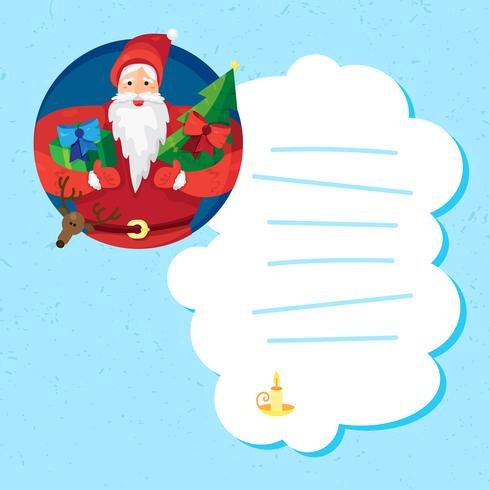 Natal papai noel vetor