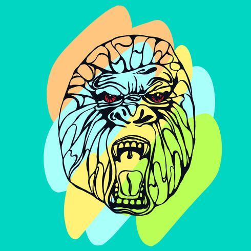 Grommende gorilla-tatoeage