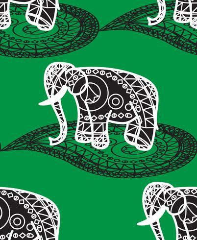 Sem costura padrão indiano vetor