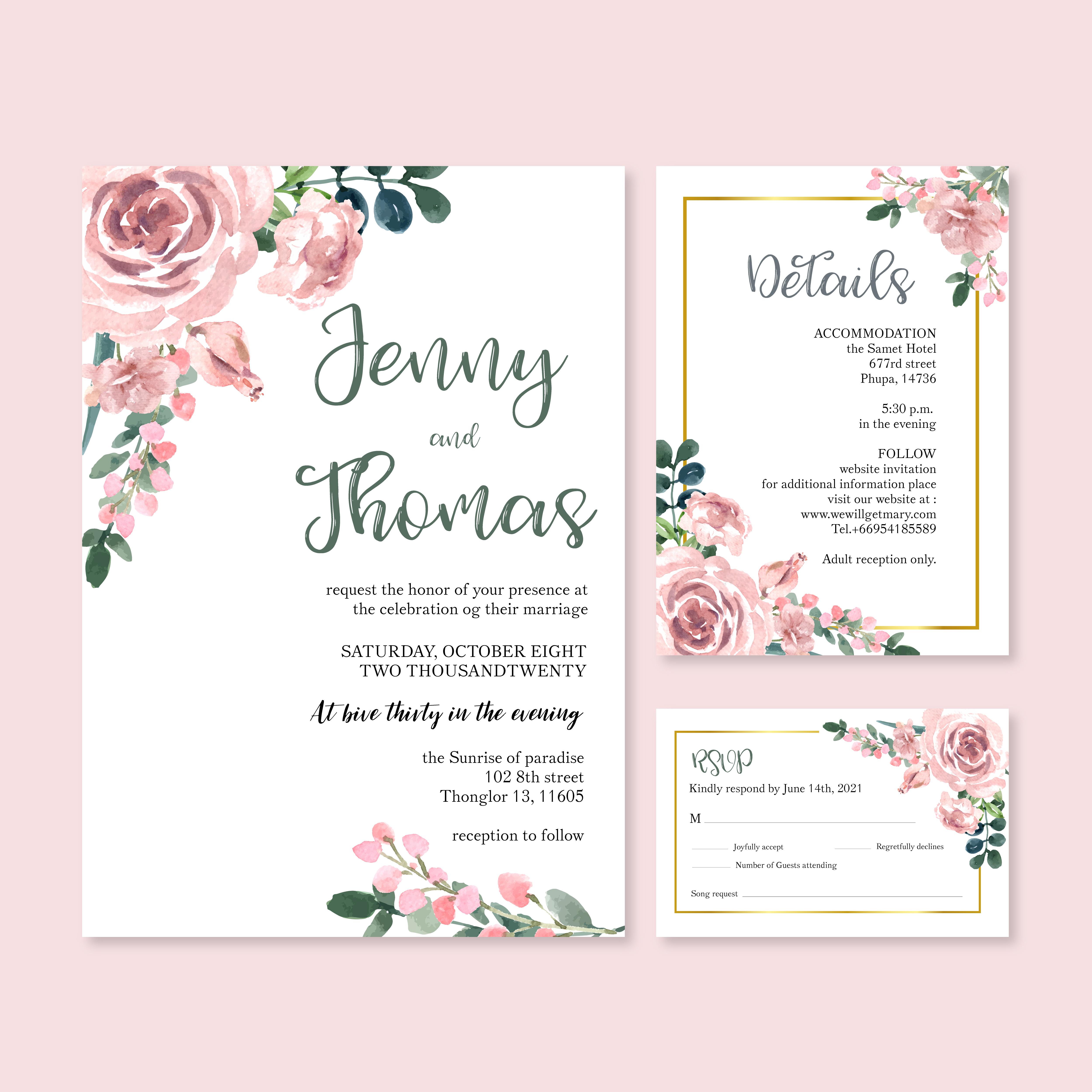 happy wedding card floral garden invitation card marriage