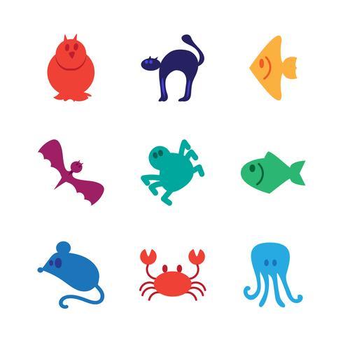 Ensemble d'icônes animaux