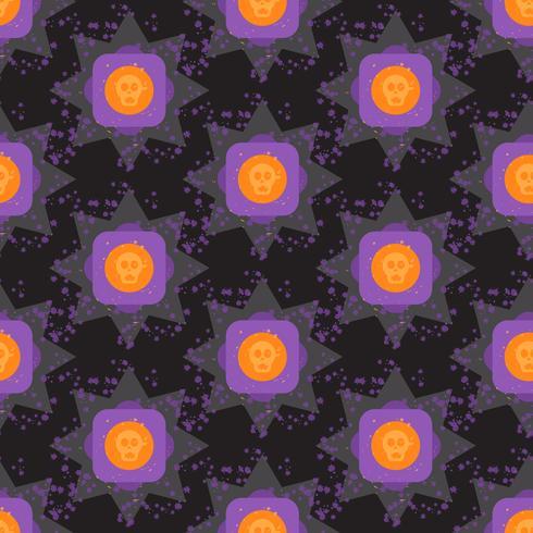 Modèle sans couture géométrique de halloween coloré grunge