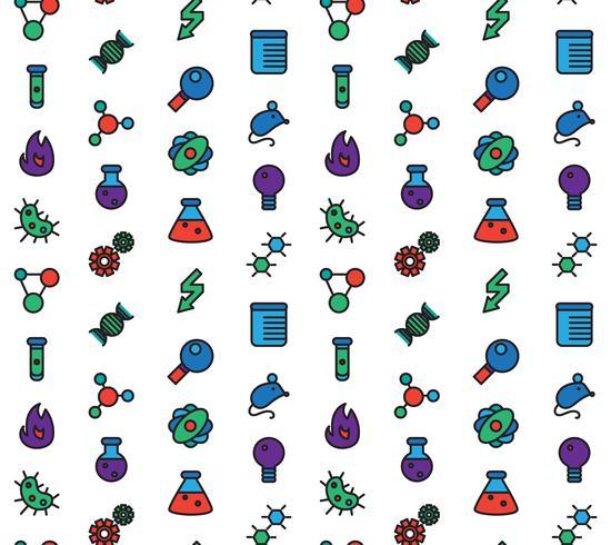 Vetenskap ikoner sömlösa mönster