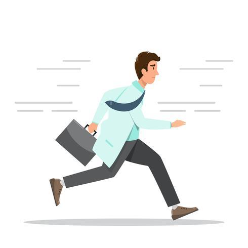 Conceito de hospital de emergência. médico correndo com o saco.