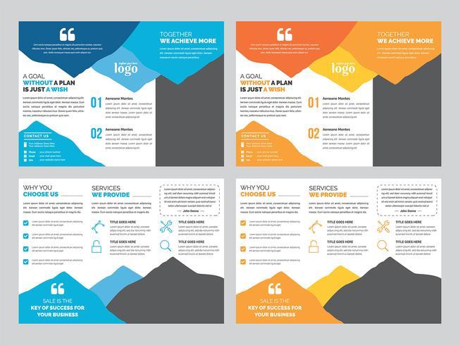 Dreifachgefaltete Broschüre Entwurfsvorlage vektor