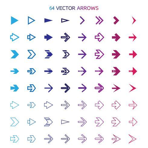 Isolated arrows set, undo and previous buttons vector