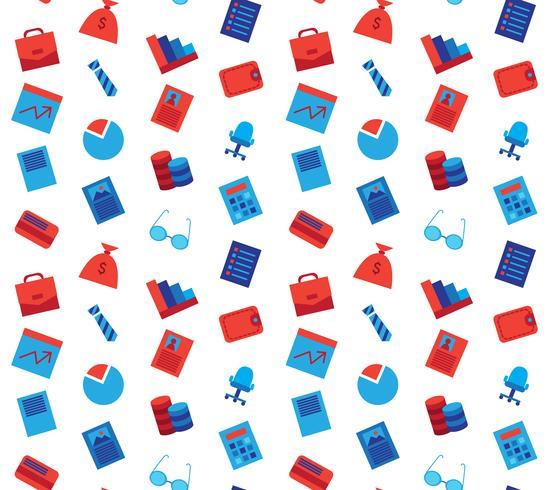 Bedrijfspictogrammen naadloos patroon