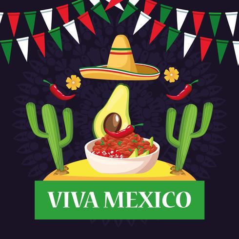 Dessins de carte Viva Mexico