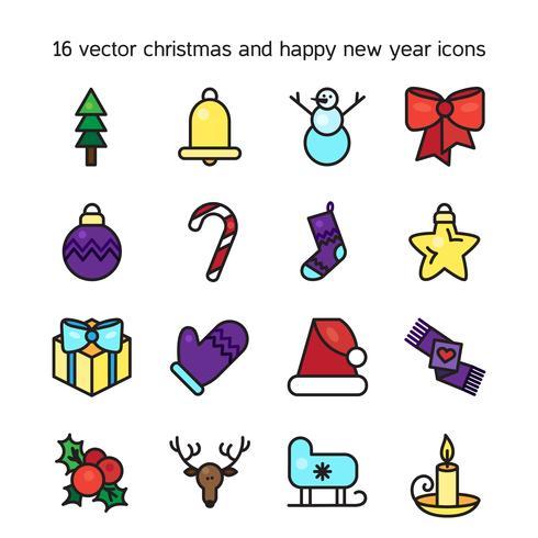 God jul ikoner vektor