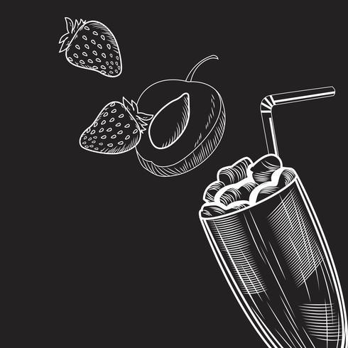 Bebida de batido de frutas