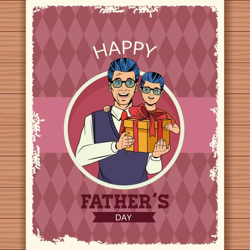 Glückliche Vatertagskarte