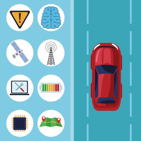 gps location car service concept vector