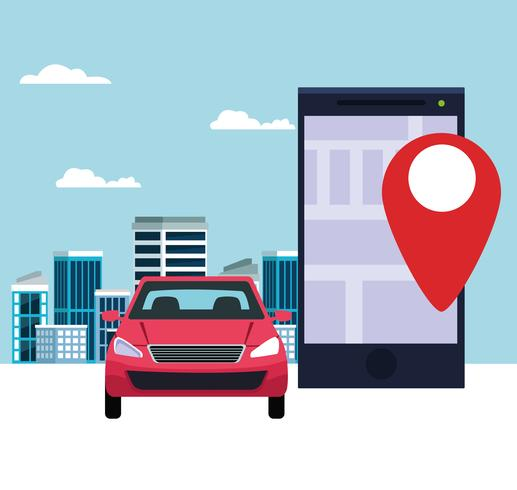 gps location car service concept vector
