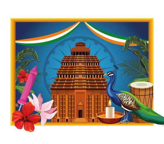 India nationale monument toeristische kaart