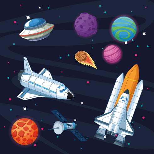 Raumschiff in der Milchstraße
