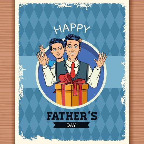 Carta di papà felice vettore