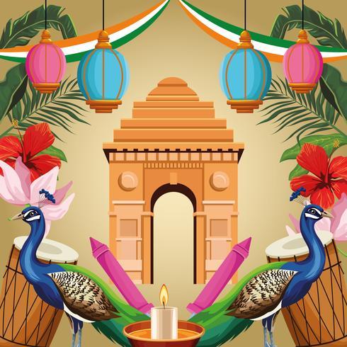 Carta di turismo monumento nazionale India