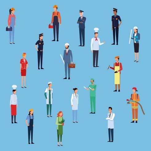 Job et ouvriers
