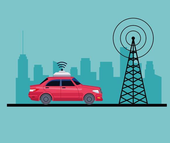 GPS concepto de servicio de coche de ubicación