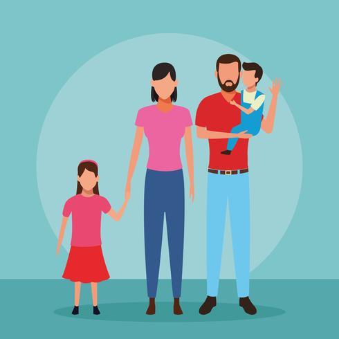 Family people cartoon vector