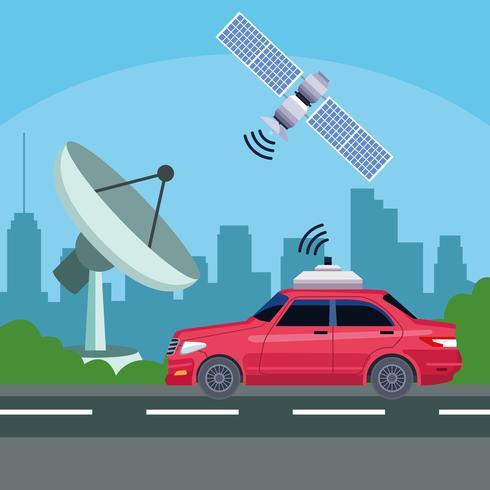 concetto di servizio auto posizione GPS vettore