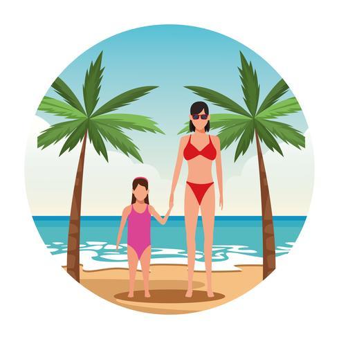 vacaciones en la playa vector