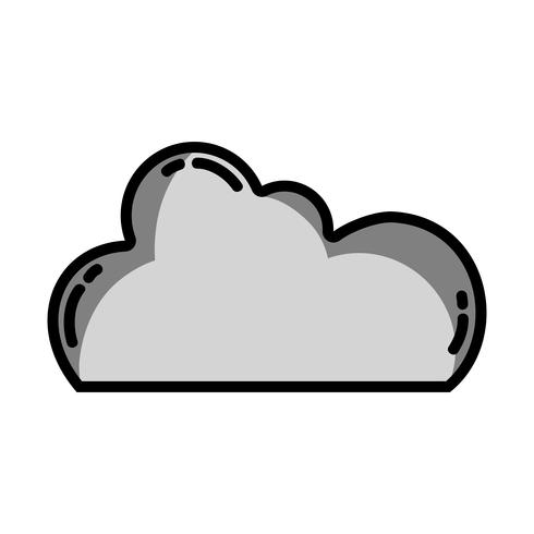 grayscale cloud data network server connection vector